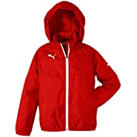 PUMA Rain Jacket Chaqueta Impermeable, Niños, Red/White, 140