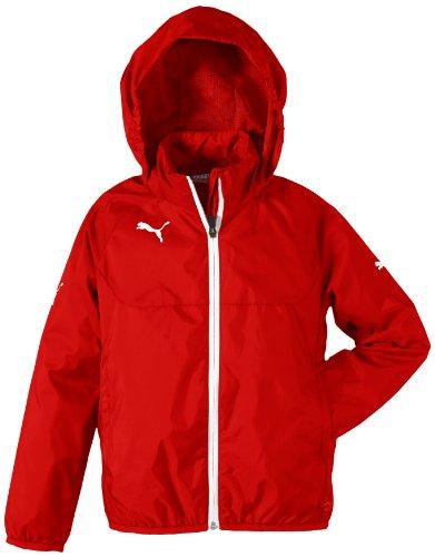 Puma 653968 01, giacca pioggia unisex, rosso/bianco, xs, bambini