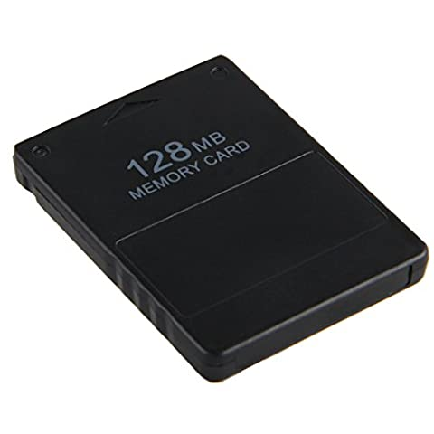 Pathson Carte de Memoire 128 MB pour Playstation PS2 Compatible Noir