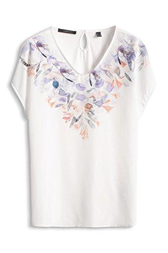 ESPRIT Collection Damen T-Shirt 046eo1k017-Regular Fit Mehrfarbig (OFF WHITE 110)