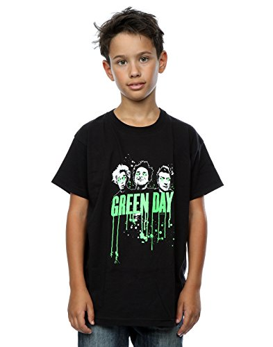 Green Day Jungen Band Drip T-Shirt 9-11 Years Schwarz (Green-day-bedruckte T-shirts)