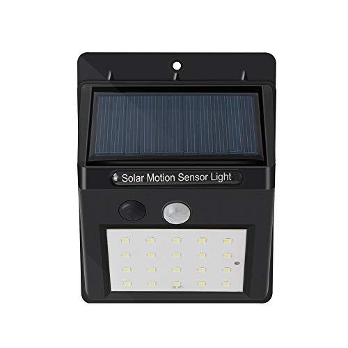 GJJ Solarlicht - LED Menschlicher Körper-Sensor-Wand-Licht Im Freien Wasserdichte Garten-Garten-Licht-Straßenlaterne,schwarz,3W - Familie Licht Im Freien Wand