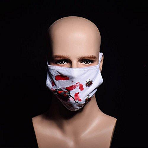Halloween Scary Horror Mund Maske Gesicht Phantasie Zähne Zombies Bloody Horrific Gift