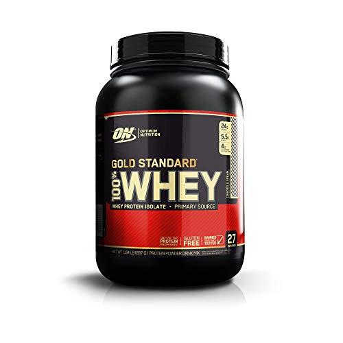Optimum Nutrition Gold Standard 100% Whey Proteine in polvere del Siero di Latte, Gusto Crema e Biscotto - 908 gr