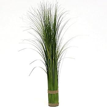 Plante artificielle touffe d 39 herbe vert jaune dans un for Mini fausse plante