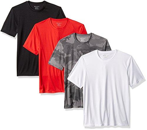 Champion Double Dry T-shirt (Champion Herren Double Dry T-Shirt (4 Stück) - Mehrfarbig - Mittel)