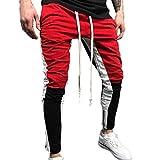 13885c3ba045b YanHoo Pantalones de chándal Sueltos Ocasionales de la Aptitud del Deporte  de los Hombres de la