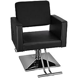 Chrisun Chaise De Coiffeur Hydraulique En Cuir PU Chaise De Salon Fauteuil De Coiffure barbierAscenseur Hydraulique Base Carrée Coiffure Styling Chair SPA Salon Beauté Equipement Barber Chair (B115)
