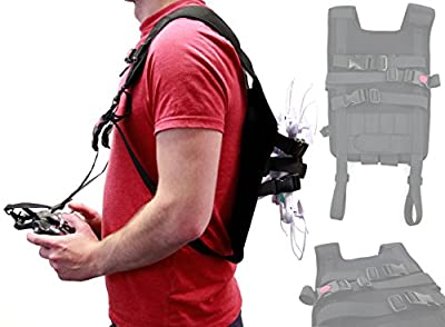 DURAGADGET Black Drone Carry Backpack with Safety Straps Compatible with the DJI Phantom 3 Standard | 4K | Advanced | Professional Drone - by