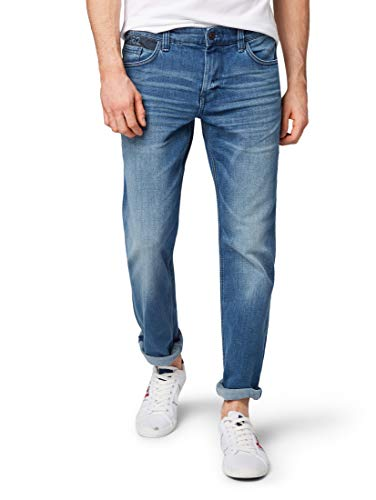 TOM TAILOR für Männer Jeanshosen Marvin Straight Jeans mid Stone wash Denim, 38/32