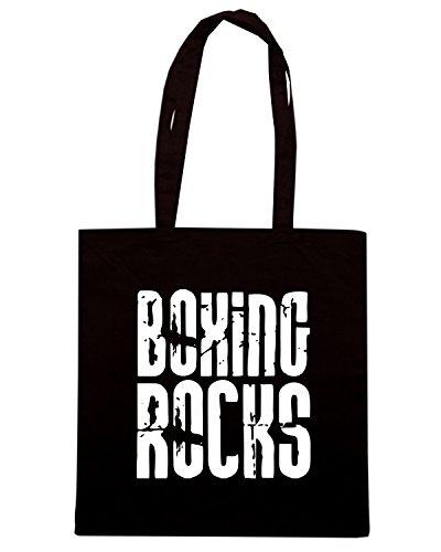 T-Shirtshock - Borsa Shopping TBOXE0072 boxing rocks Nero