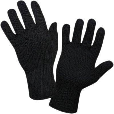 Gajraj Unisex Woollen Winter Gloves (GHF52Exclusive_Black)