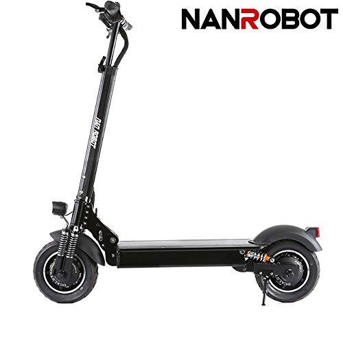 NANROBOT D4 + 2000 W Patinete eléctrico Ligero Plegable con batería de Largo Alcance DE 43,5 Millas de hasta 40,3...