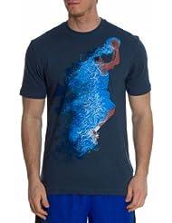 Nike Majors Block 2 Camiseta Polo de Golf, Niño, Gris Oscuro, XS