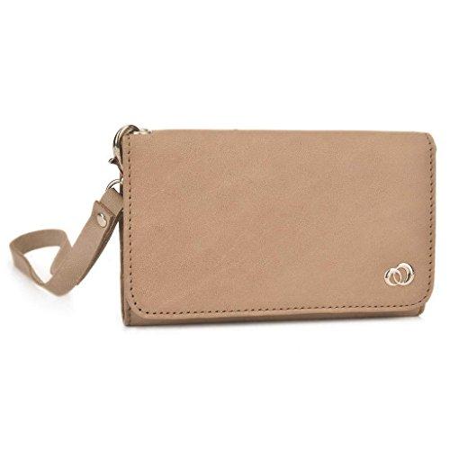 Kroo Pochette Housse Téléphone Portable en cuir véritable pour LG G Pro 2 Marron - peau Marron - marron