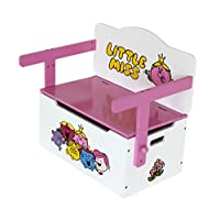Little Miss - Childrens Kids 3in1 Wooden Convertible Toy Box+Bench & Table+Chair - by Kiddi Style