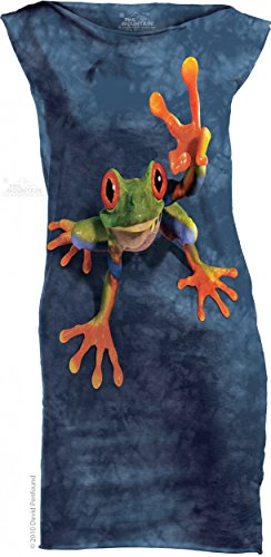 the-mountain-victory-frog-long-mini-kleid-peace-frosch
