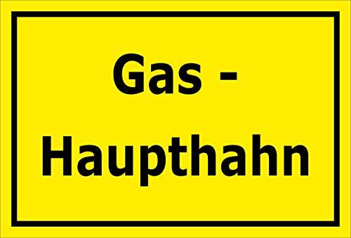 Melis Folienwerkstatt Aufkleber - Gas-Haupthahn - 30x20cm - S00070-081-C -20 VAR -