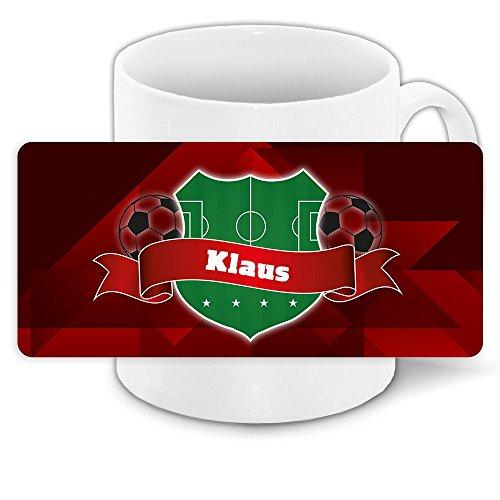 Fußball-Tasse mit Namen Klaus und schönem Motiv für Deutschland-Fans - personalisierte Fantasse - Deutschland-Tasse - Namenstasse 2