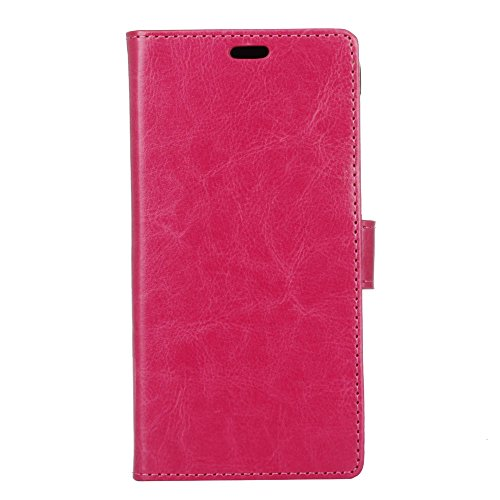Crystal Grain Texture PU Leder Brieftasche Case, Solid Color Flip Stand Case Cover mit Card Slots & Kickstand für Vodafone Smart E8 ( Color : Rose ) Rose