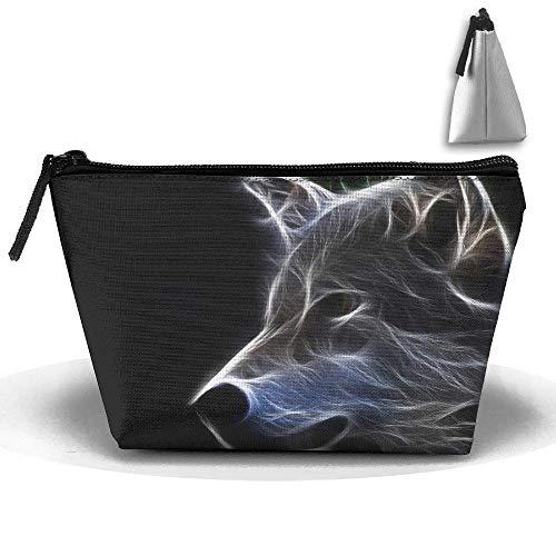 ff0f4461ae44 Portable Makeup Bag Organizer Travel Magic 3D Printing Abstract Wolf Art  Cosmetic Bags Brush Storage Pouch for Women Purse Storage Bags