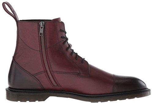 Dr. Martens Winchester Polished Smooth, Stivali Uomo, Black Cherry Red