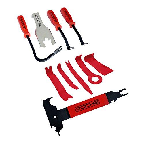 Voche® 10 pièces de voiture Trim, corps moulé et garniture Panneau de porte Clip Outil de démontage Ensemble