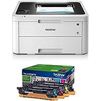 Brother HL-L3230CDW - Impresora láser Color (WiFi, USB 2.0, 256 MB, 800 MHz, 18 ppm, 390 W) Blanco