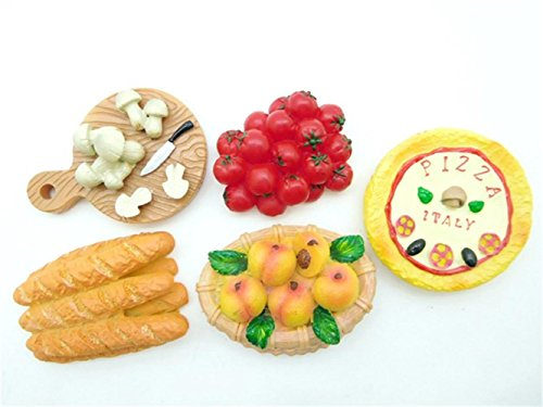 great-mix-of-food-series-3d-magnets-refrigerator-sticker-decoration-set-of-5-union-tesco