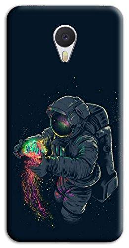 Mixroom - Cover Custodia Case in TPU Silicone Morbida per Meizu M5S M677 Astronauta con Medusa