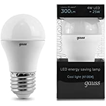 GAUSS A+ LED Lampe Plastik 4 W E27 weiß ЕВ105002204