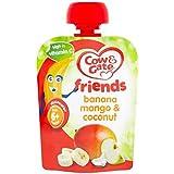 Vache & Gate Amis Banane Mangue Et De Noix De Coco 80G 6 Mois + - Lot De 2
