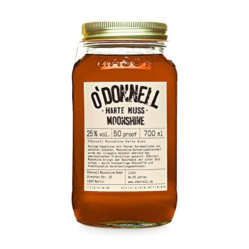 "O\'Donnell Moonshine \""Harte Nuss\"" Likör (700 ml) I Made in Germany I Natürliche Zutaten I Premium Haselnuss Schnaps nach Amerikanischer Tradition I 25{ad8ea51b1279e6e176cd6d434c23503fe08b3d59cb240b62cd402fea2f927a32} Vol. Alkohol"