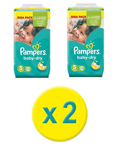 Pampers Baby Dry Couches Taille 5 Junior 11-25kg Giga Pack 216 Couches