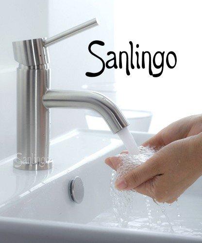 Sanlingo Design Waschbecken Armatur aus 100% gebürstetem Edelstahl
