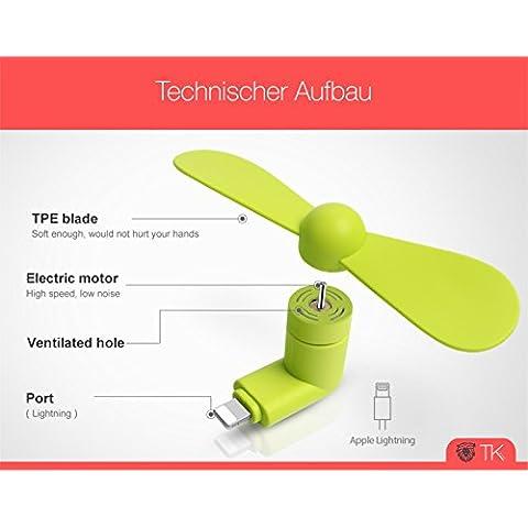 USB-ventilador-Fan-Negro-para-telfono-mvilsmartphone-iphone-6-7s-Plus-iPad-Mini-con-conector-Lightning-flexible-Silencioso-porttil-y-bajo-consumo-de-TK-de-grupo-iPhone-Ventilador