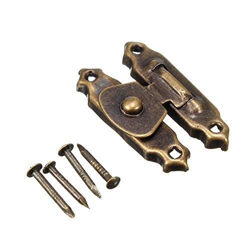Bronze dunkel 26* 16mm Messing Antik Decor Schmuck Schmuckkästchen Holz Box Überfalle Verschlüsse Latch Haken 4mit 16Schrauben -