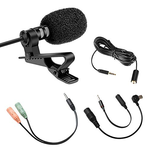 para la correa Paquete Sistemas de micr/ófonos Boom Wired flexible est/ándar de 3,5 mm conector Jack 2 x Auricular con micr/ófono HUACAM YYPJ-02 Condensador Headset Micr/ófono