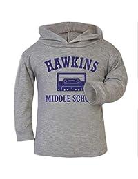 Cloud City 7 Hawkins Middle School Stranger Things Baby and Kids Hooded Sweatshirt