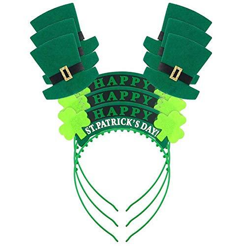 ck's Day Stirnband Kleeblatt Hut Haarreif Kopfschmuck Kostüm Zubehör St. Pat's Day Stirnband Grün Stirnband Kleeblatt Haarband Party Festival Stirnband Multi ()
