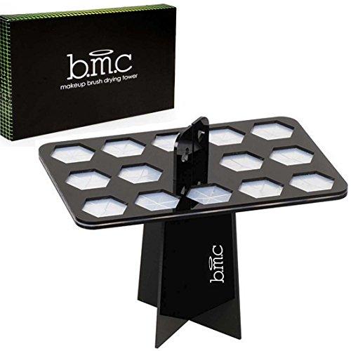 BMC - Arbre sèche-pinceaux pliable - pour 14 pinceaux à maquillage de grande taille
