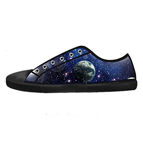 Custom Univers Plaque Mens Canvas Shoes Chaussures Lace Up High Top pour Sneakers Toile Chaussures de chaussures de toile chaussures de sport E