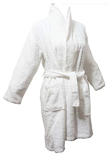 Price comparison product image MÖVE Children's Bathrobe Terry Cloth 100% Cotton Soft for 4 - 7 Years White