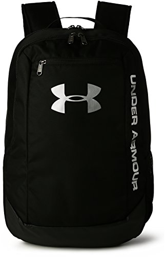 Under Armour UA Hustle Backpack LDWR Mochila, Hombre, Negro Black/Black/Silver 001, Talla única