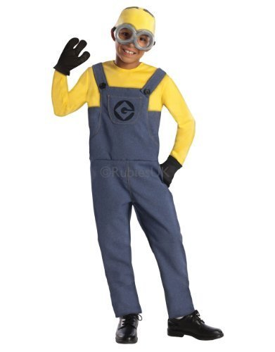 Despicable Me Costume, Kids Classic Minion Dave Outfit, -