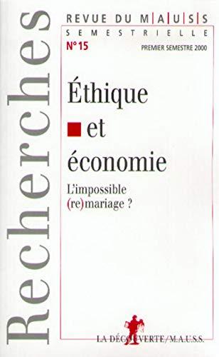 Ethique et économie par Collectif