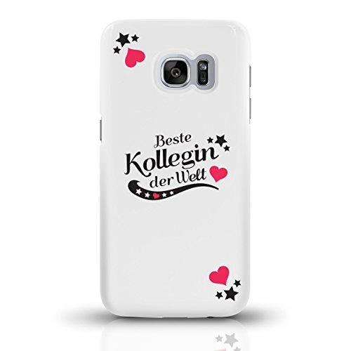 """JUNIWORDS Handyhüllen Slim Case für Samsung Galaxy S7 mit Schriftzug """"Beste Kollegin der Welt"""" - ideales Weihnachtsgeschenk für die Kollegin - Motiv 4 - Handyhülle, Handycase, Handyschale, Schutzhülle motiv 2"""
