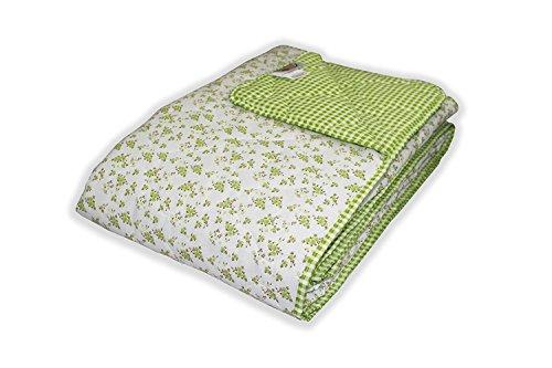 MERINO BETTEN Wendedecke Kuscheldecke, Super Softe Tagesdecke mit Extra Füllung in intensiven Farben und Größen (Weitere Verfügbar) (Grün, 230 x 260 cm)