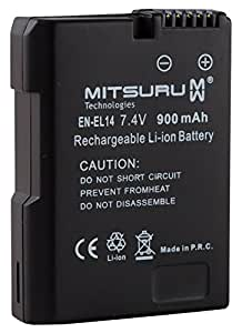 Mitsuru® batterie de remplacement pour Nikon D3100 / D3200 / D5100 / D5200 / Coolpix P7000 / P7100 / P7700 compatible avec EN-EL14 ENEL14