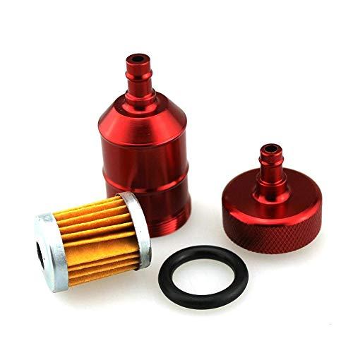 Yosoo cuadriciclo para motocicleta universal Filtro de gasolina en l/ínea de aluminio 6 mm